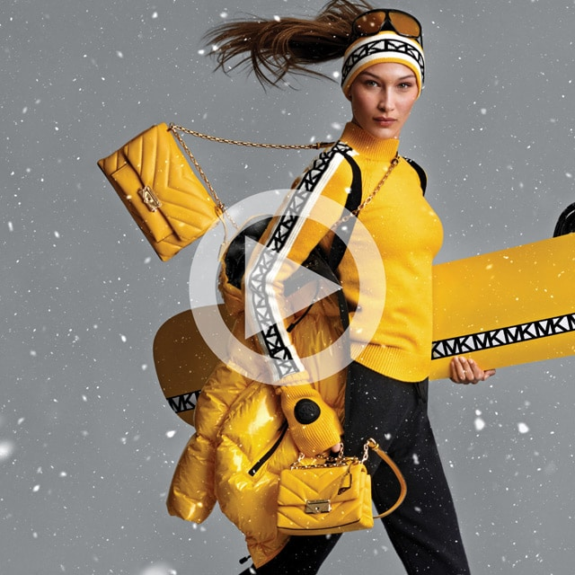 watch a video about the Michael Kors sea and ski collection of clothing
